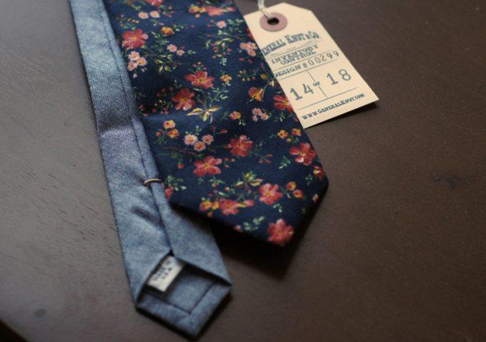 general knot floral necktie