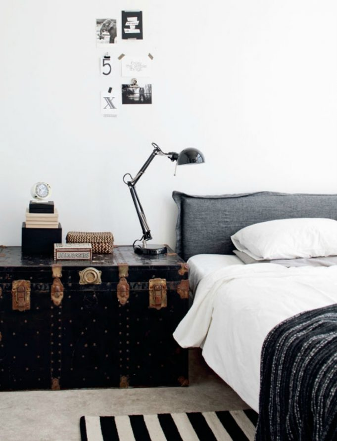 Monochrome style interior design Bedrooms Inspiration