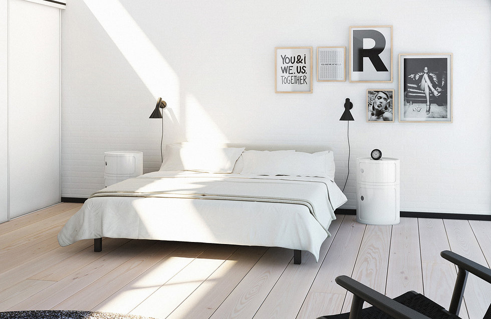 b&w interior design inspiration