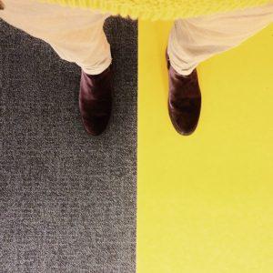 vscocam yellow purple shoes