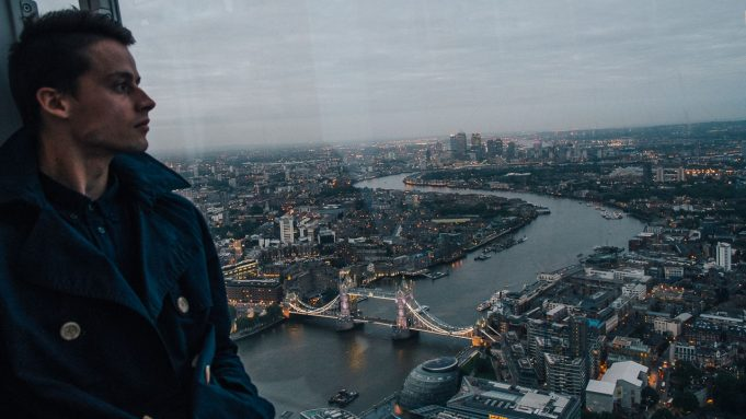 anton style division the shard view at night