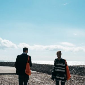 couple walking in brighton