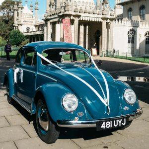 beetle car blue brighton