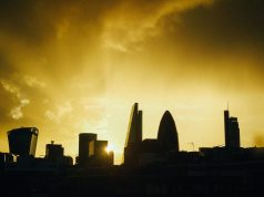 london skyline bank orange walkie talkie gherkin