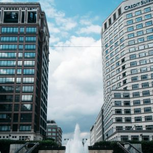 london architecture in canary wharf
