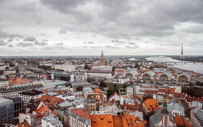 riga latvia cityscape