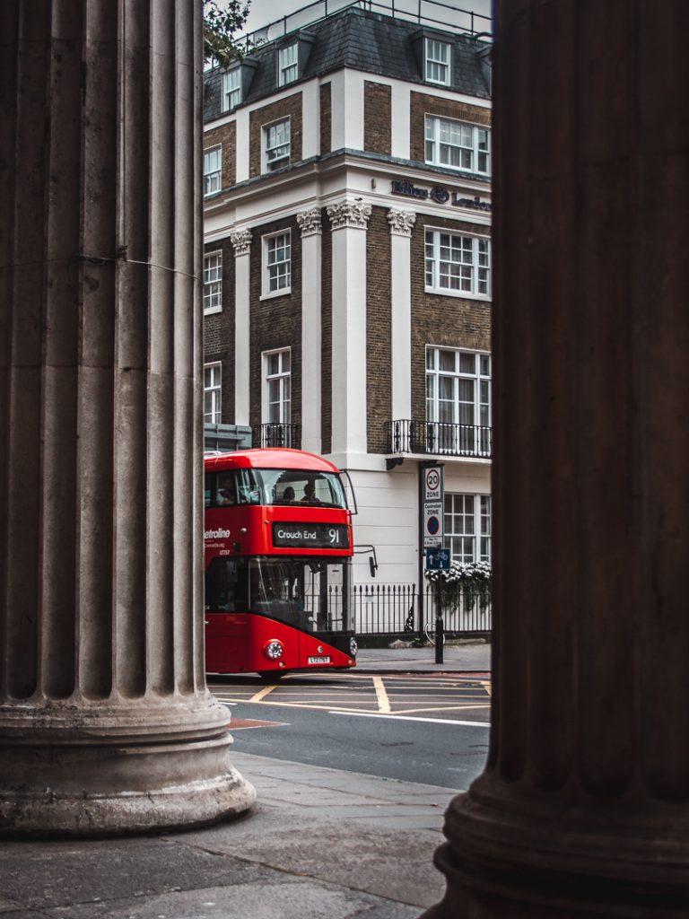 double decker red bus london