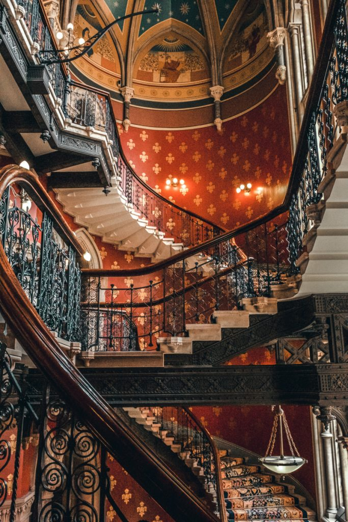 exploring london renaissance hotel spice girls stairs
