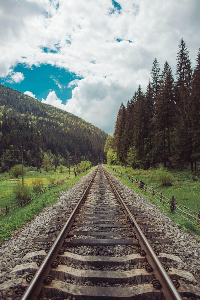 railroad ukraine mountains