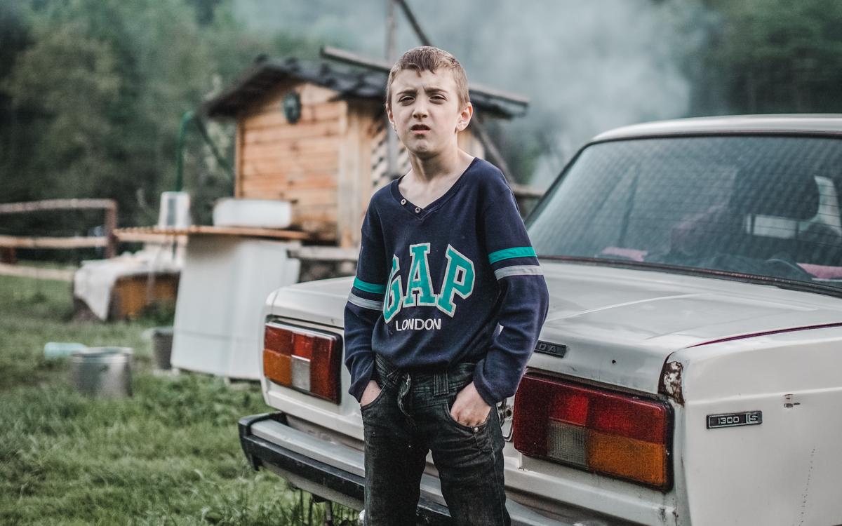mountain kid lada ukraine