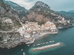 amalfi coast drone atrani