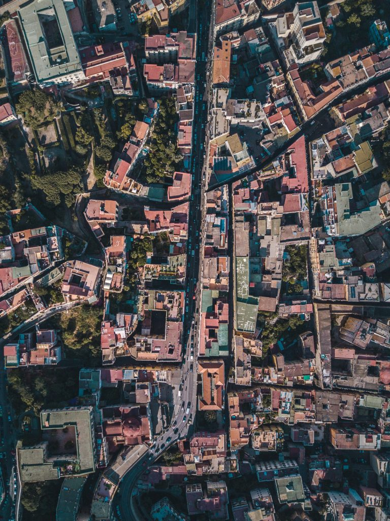 napoli naples drone top down