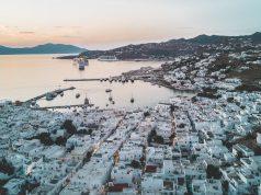 mykonos greece drone