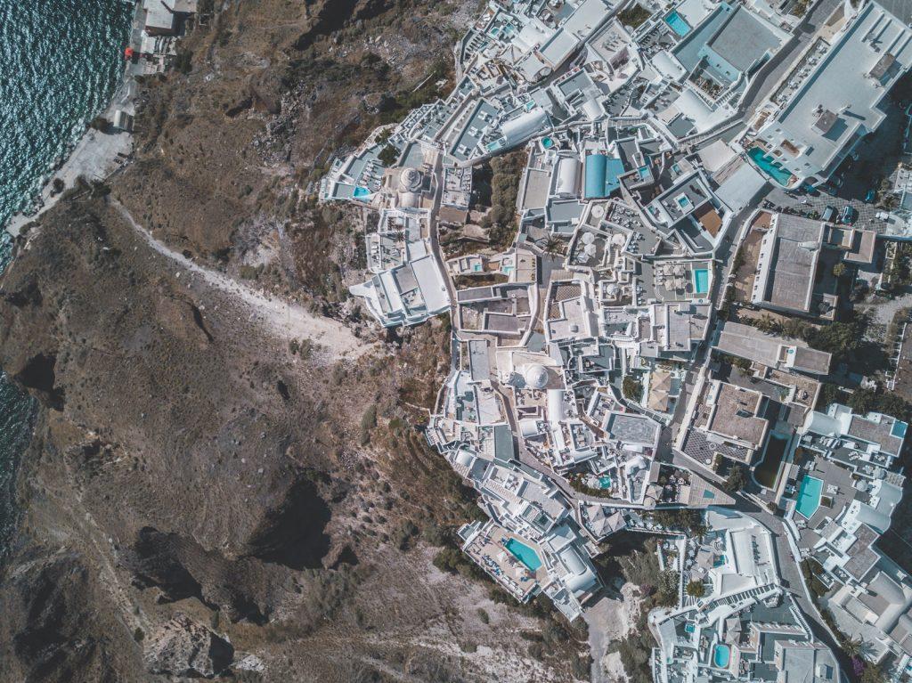 santorini greece dji drone fira