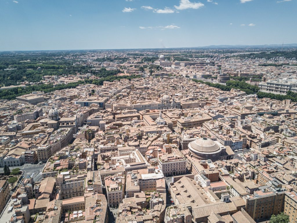 rome roma drone aerial birds eye view