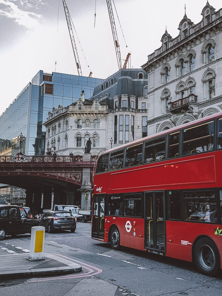 london life red bus