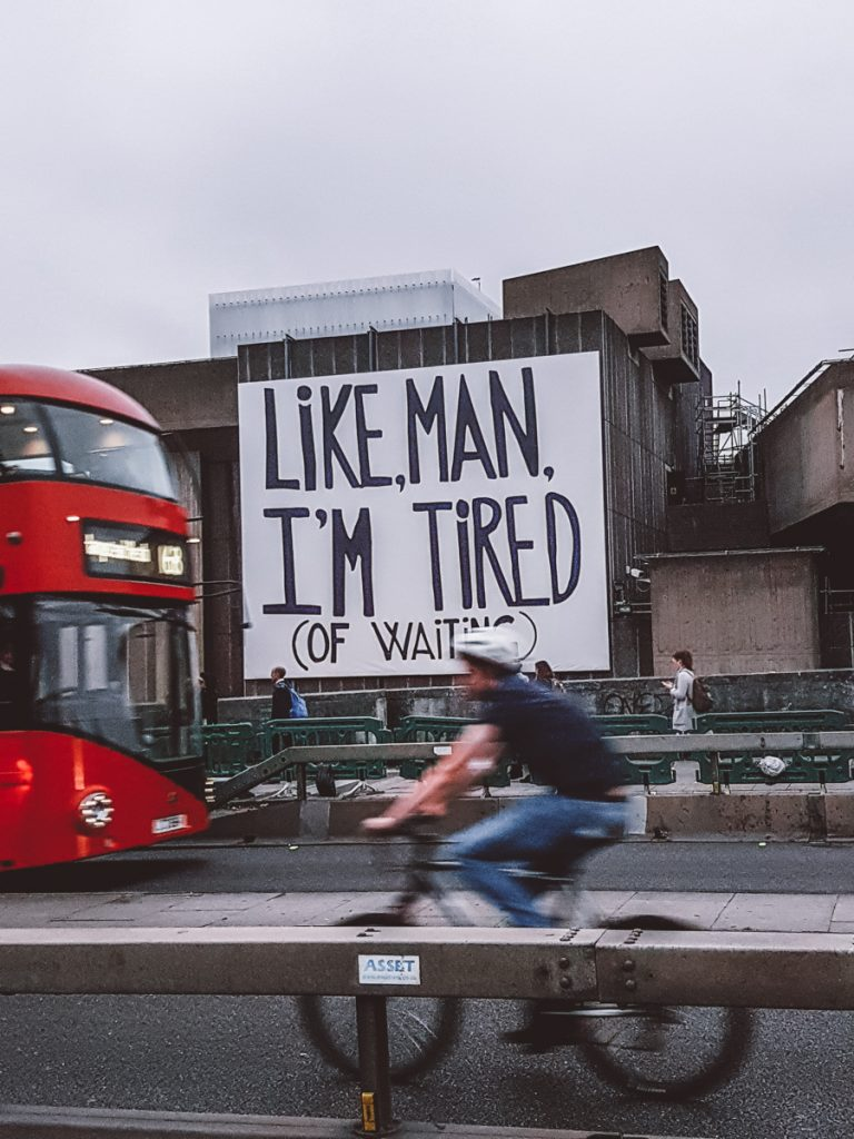 london tired of life