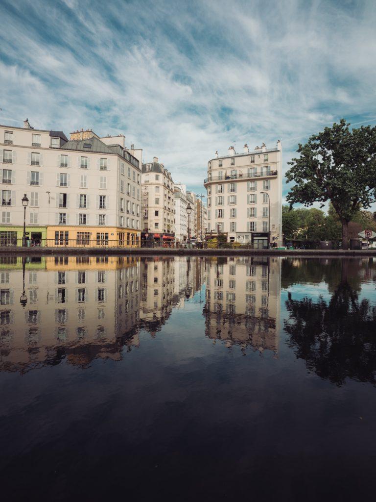 canal saint martin reflection paris