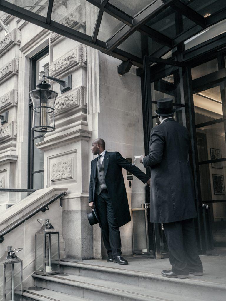 london hotel doormen staff