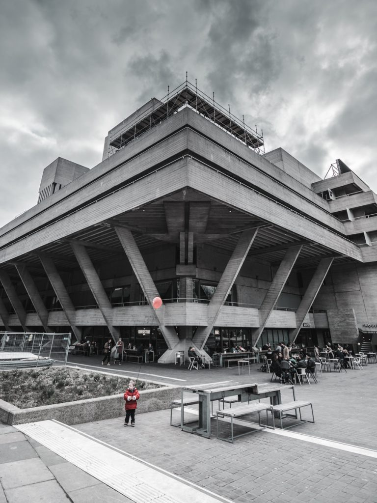 red balloon boy national theatre brutalist brutal architecture
