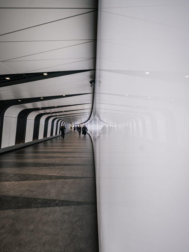 kings cross station light tunnel