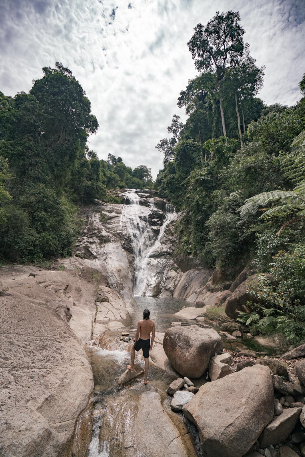 waterfall sarawak sergio hunt